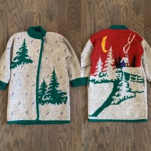 Vintage Falcon Italian Christmas Sweater Jacket